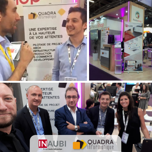 Quadra Informatique et Inaubi participaient à la Paris Retail Week 2018
