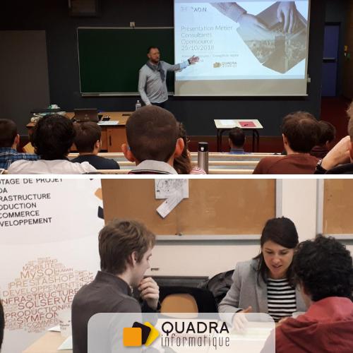 Journée des métiers de l'informatique 2018 Quadra Informatique 25 octobre