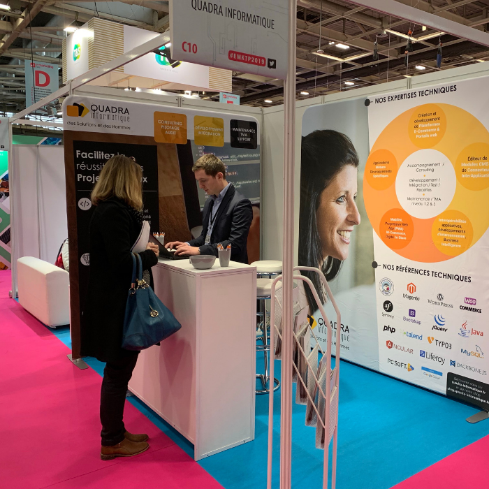 L'agence Digitale de Quadra Informatique au salon E-Marketing 2019